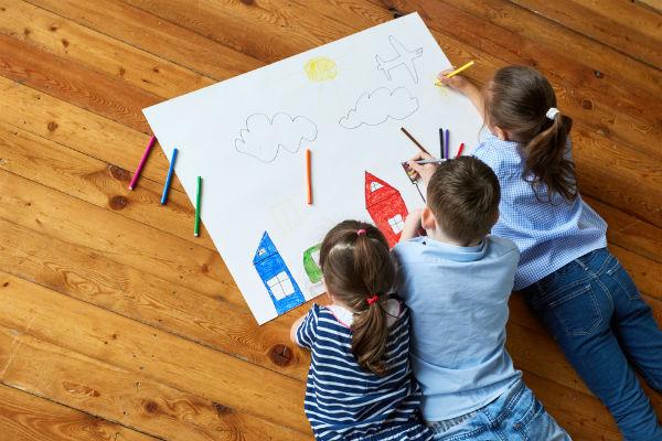 niños-dibujar