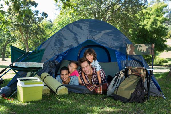 Intenta acampar en el día